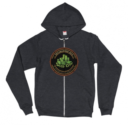 Seed City Hooded Zip Sweatshirt - Seed Bank Tøj