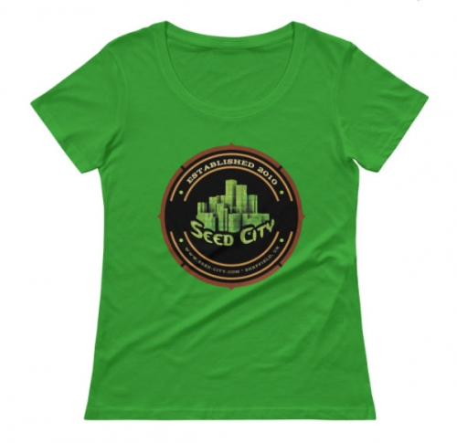 Seed City Ladies Scoopneck T-skjorte - Seed Bank Clothing