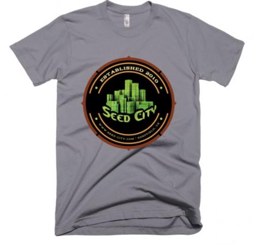 עיר זרע חולצת טריקו קצר - הלבשה בנק זרע