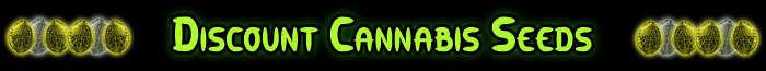 割引カンナビスの種のバナー