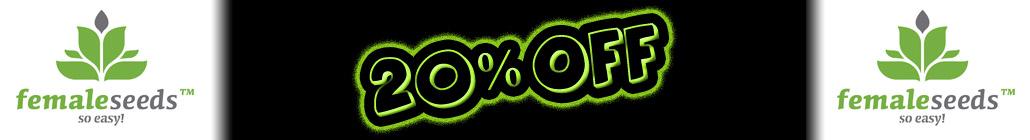 20% Off Female Seeds!