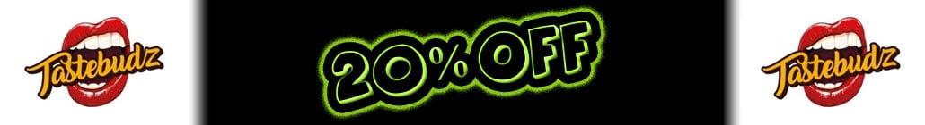 20% Rabatt auf TasteBudz Seeds