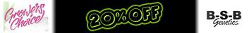 ¡20% de descuento en Growers Choice y BSB Genetics!